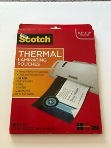 Scotch Thermal Laminating Pouches 8 5x11