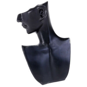 Necklace Show Jewelry Mannequin Bust Store Display Resin Material Black