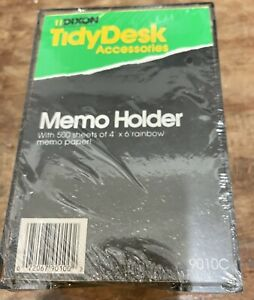 Memo Cube Note Pad Holder 9010c Dixon Tidydesk Smokey Lucite Holder W sheets