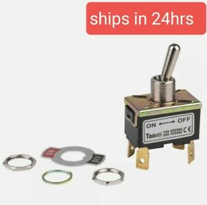 Dpst On off Toggle Switch 4 Spade 20a 125vac 2 Position