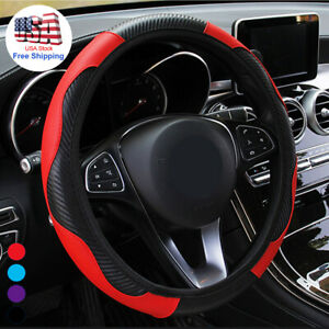 Leather Car Steering Wheel Cover Breathable Anti Slip Car Accessories For Chevy