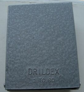 Vintage Huot Drill Index Bits No 1 To 60 Included With Box Pat Number inv1241