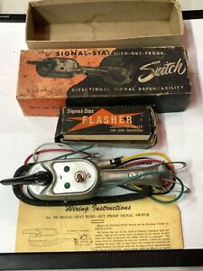 Vintage Auto Truck Van Turn Signal Stat Burn Out Proof Directional Switch Old