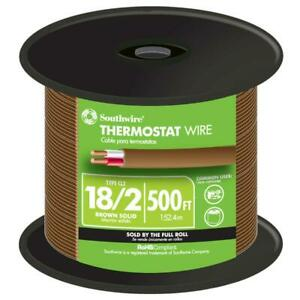Southwire Solid Thermostat Wire 500 ft 18 2 Brown