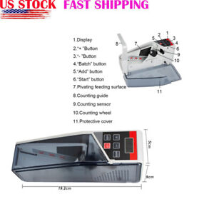 Bill Cash Money Counter Banknote Counter Cash Currency Counting Machine Usa