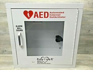 Reviver Aed Oxygen Quick Response Station Defibrillator Metal Wall Cabinet