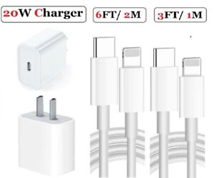 20W USB C Power Adapter PD Fast Charge Cable For iPhone 13 12 11 Pro Max XR iPad $8.89