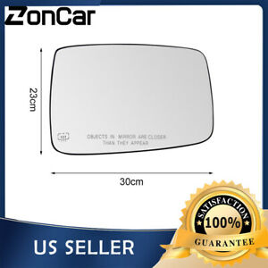 Mirror Glass Heated Power W Backing Plate Driver Side Lh For Dodge Ram 1500 2500