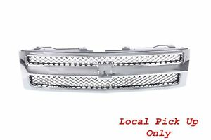 Local Pickup Only Front Chrome Grille Fit 07 13 Chevy Silverado 1500 Pickup
