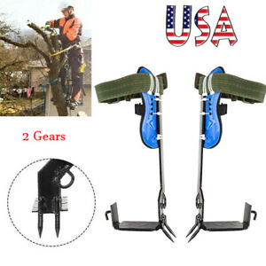 Tree Climbing Spike 2 Gears Safety Belt Adjustable Rope Rescue Belt Climb Tools