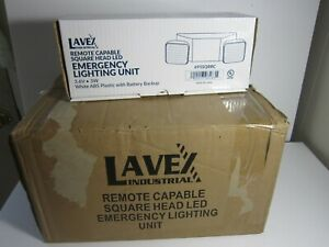 6 Lavex Square Head Led Emergency Lighting With Battery Backup 1 Full Case