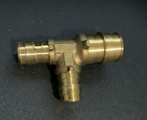20 Ez flo Pex 3 4 X 1 2 X 1 2 Tees For Expansion Brass Plumbing Fittings