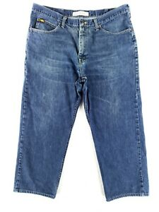 Lee 40x30 Altered 40x27 Relaxed Fit Blue Jeans Classic Denim Broken In $18.79