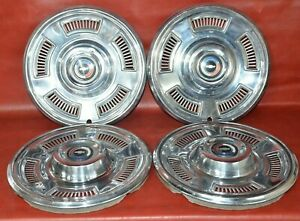 1967 Chevrolet Chevy Chevelle Hubcaps 14 Wheel Cover Hub Cap Used 67 Set