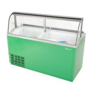 Turbo Air Tidc 70g n 70 In Green Ice Cream Dipping Cabinet