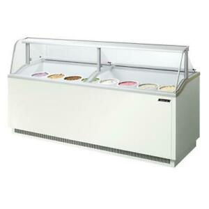 Turbo Air Tidc 91w n 89 In White Ice Cream Dipping Cabinet