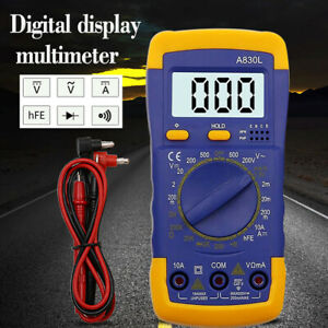 Digital A830l Lcd Multimeter Dc ac Voltage Diode Frequency Tester Multi tester