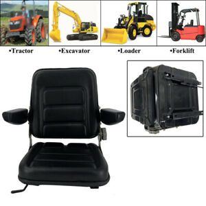 Lawn Garden Slidable Tractor Seat Riding Mower Seat W Armrest Fits Most Brands