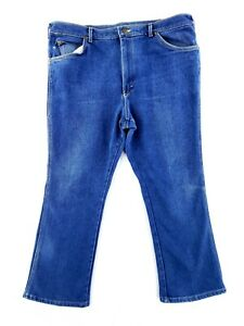 Vintage Lee 40x29 Blue Jeans USA MADE Classic Stretch Denim Boot Cut 70s 80s $21.79