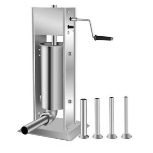 7l Stainless Steel Commercial Vertical Manual Meat Sausage Stuffer Machine