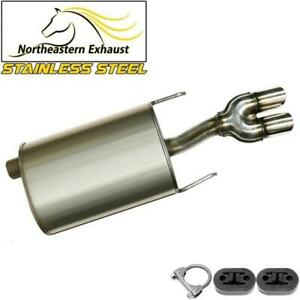 Stainless Steel Driver Side Dual Tip Muffler W Hangers Fits 2003 08 Grand Prix