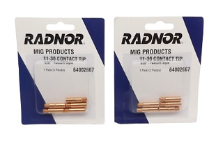 Lot Of 10 Radnor 64002667 11 30 030 Contact Tip Tweco Style