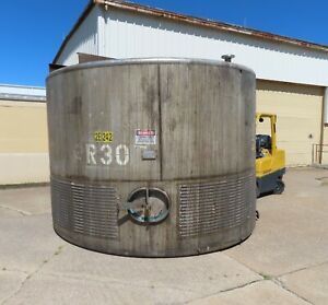 6 500 Gallon Stainless Steel Tank Jacketed