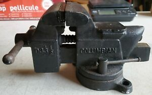 Vintage Columbian D33 1 2 Bench Vise 3 1 2 Jaws Swivel Base Anvil Made In Usa