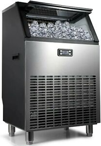 Northair Commercial Ice Maker Machine 200lbs Ice 24h Stainless Steel Free stand