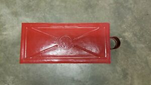 Old Ihc Embossed Lid Toolbox Implement Tractor Steam Engine Threshing Machine