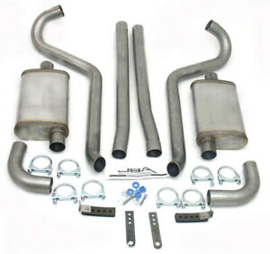 Jba Performance Exhaust Ford Mustang 1965 70 Mid Back Exhaust Kit P N 40 2650