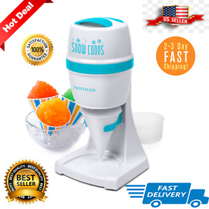 Stainless Shaved Slush Drink Shaver Machine Snow Cone Maker Electric Ice Crusher