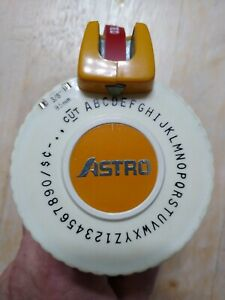 Vintage 3 8 Astro Label Maker With 1 2 Roll Of Red Label I Typed tested
