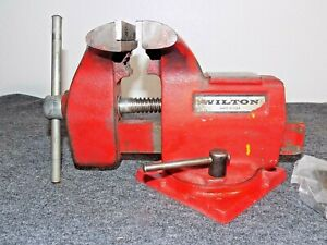 4 Wilton Swivel Bench Vise 100 Smooth Action W spare Set Jaw Inserts used