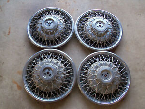 Used Set Of Four 1984 Buick Riviera 15 Wire Spoke Hubcap Wheel Cover