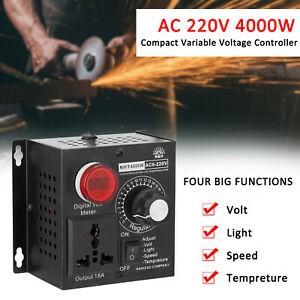 Ac 4000w Compact Variable Voltage Regulator Speed Motor Temp Dimmer W6k5