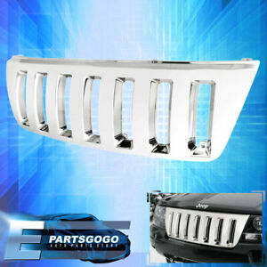 For 1999 2004 Jeep Grand Cherokee Front Bumper Chrome H2 Type Vertical Grille