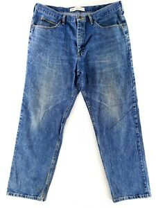 Vintage Lee 40x32 Relaxed Fit Blue Jeans Classic Denim Faded Distressed $21.79