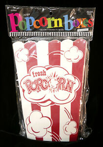 Hobby Lobby 8 Popcorn Boxes Large Size 7 13 X 5 32 X 4 33 Food Safe Red White