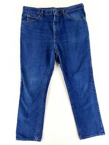 VINTAGE Lee 40x32 USA MADE Blue Jeans Classic Heavy Denim High Rise 80s Straight $34.79