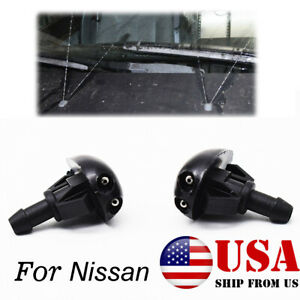 For Nissan Frontier Xterra Left Right Windshield Washer Fluid Spray Jet Nozzle