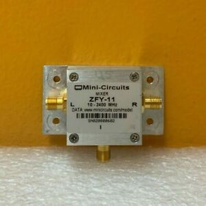 Mini circuits Zfy 11 10 To 2400 Mhz Sma f Coaxial Frequency Mixer Tested
