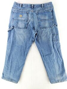 Lee 40x28 Carpenter Blue Jeans Loose Fit Painters Work Stone Wash Straight $26.79