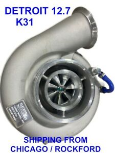 New K31 Turbo For Detroit Series 60 Engine 127l 172743 Upgrad With Billet Wheel
