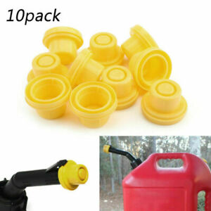 10x Replacement Yellow Spout Cap Top Fit For Blitz Fuel Gas Can 900302 900092 Ue