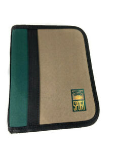 Franklin Covey Sport Zip Planner binder Durable Tan Green Compact 1 Rings