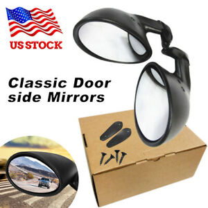 Universal View Mirrors Hot Rod Vintage Sport Racing Car Side Wing Mirrors Bullet