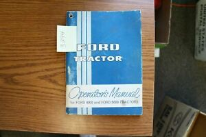 Ford 4000 5000 Tractors Operator s Manual