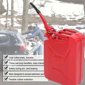 Fuel Can 5 Gallon Gasoline Fuel Tank Military Diesel Can Metal Bucket Oil Tubing