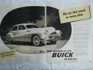 1947 Buick Two Page Antique Car Ad Henry Junior Taylor Radio Fireball Bulletin